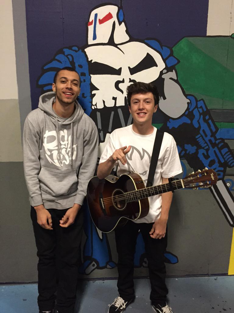 @KalinAndMyles about to take the stage! THEY HEAR YOU BACK STAGE! MAKE SOME NOISE  @Q92 @DedicationTour_ http://t.co/pnzSlpMBwU