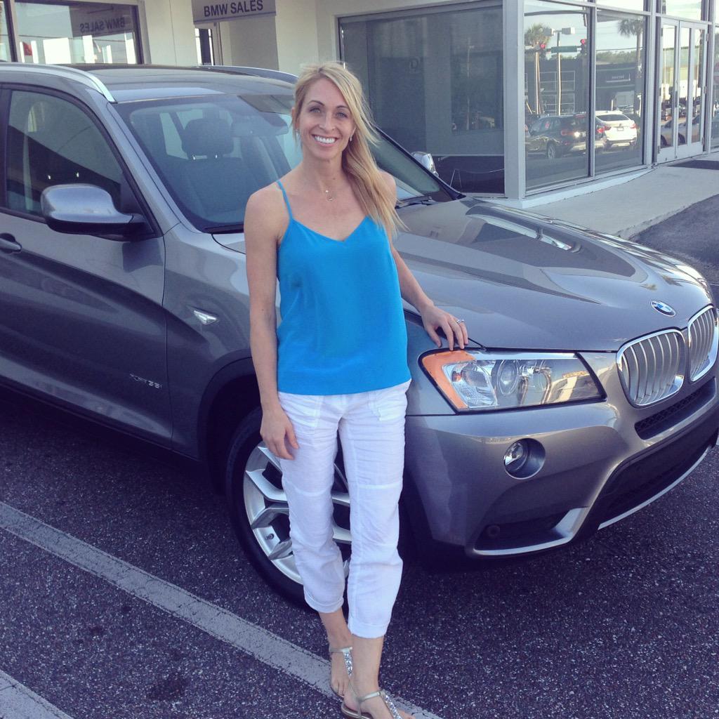 """Tom Bush Bmw >> Tom Bush BMW JAX on Twitter: """"@gatorzonegym coach Rhonda Faehn with her new BMW X5! #gymnastics ..."""