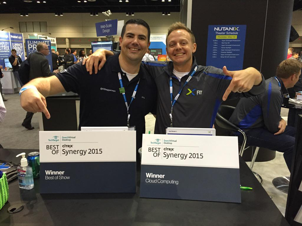Nutanix just won best of show at #CitrixSynergy 2015, very proud of that achievement and the team cc @Drutanix http://t.co/sljGn6SG6x