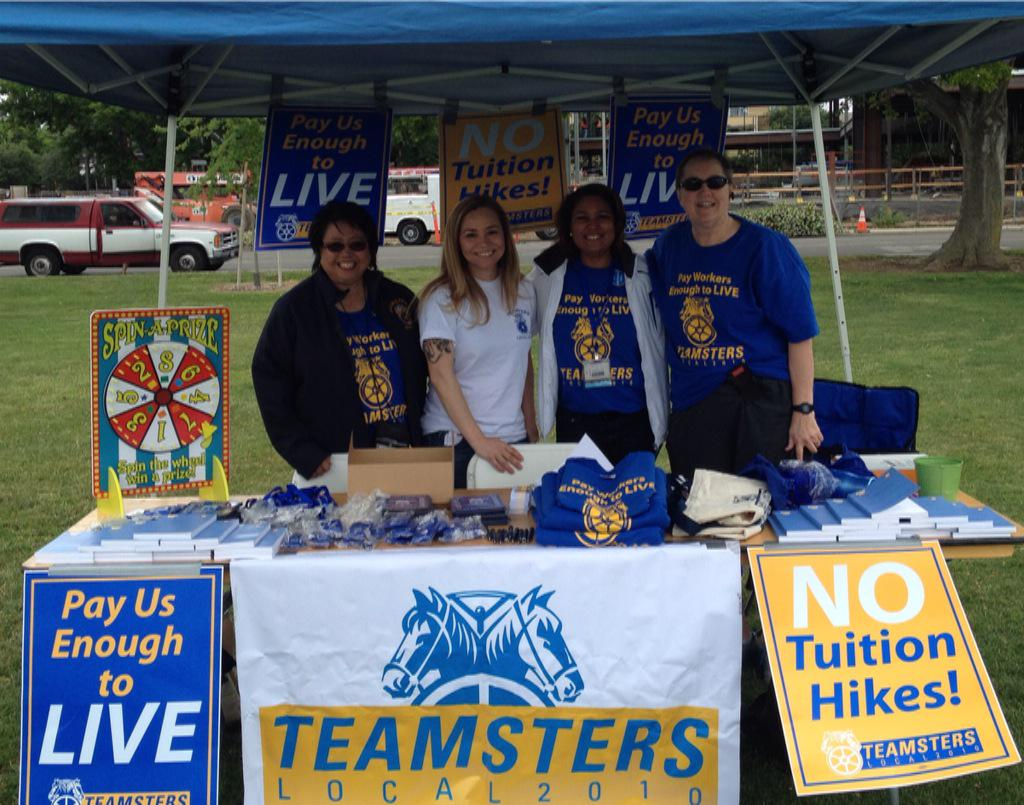 Come say hi at the UCD Campus TGFS #UCpaytoLive #UCDavis #ROC #Teamsters #Local2010  @IBTlocal2010 http://t.co/Mhk90rSVlw