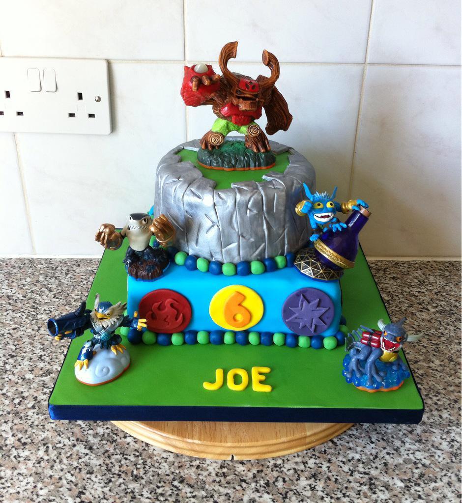 Amazing P Arty Cakes On Twitter Skylander Birthday Cake T Co Birthday Cards Printable Inklcafe Filternl