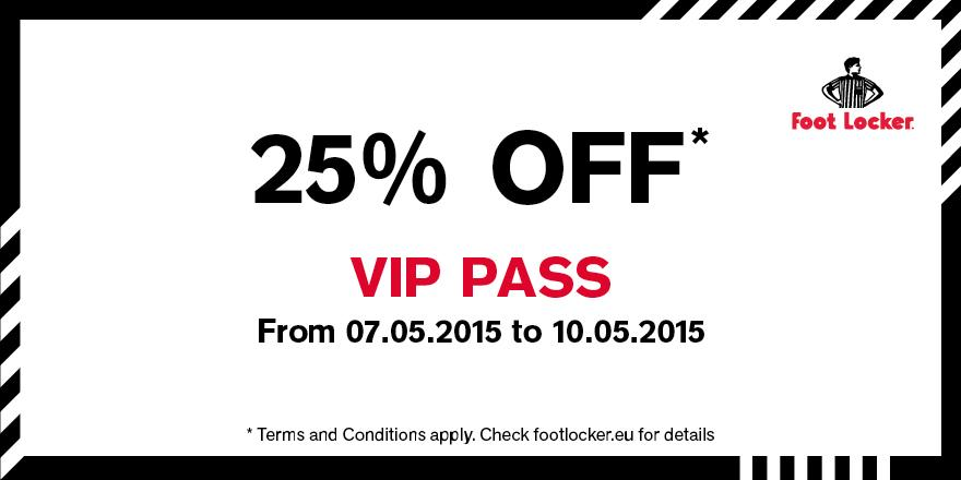 foot locker coupons foot locker eu on twitter our exclusive 25 off vip event is