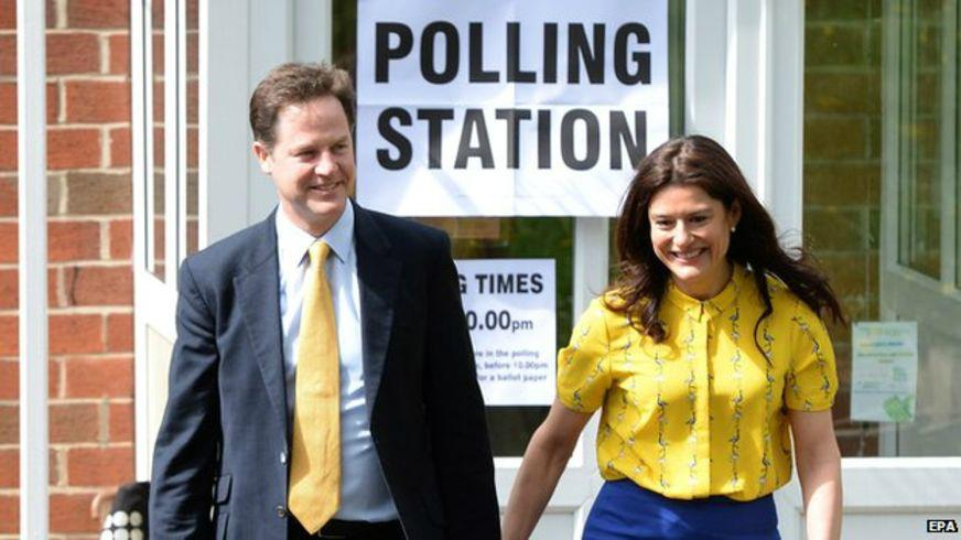 am i trippin or does nick cleggs missus look more like nick clegg than nick clegg does? http://t.co/UuEyM68BVg
