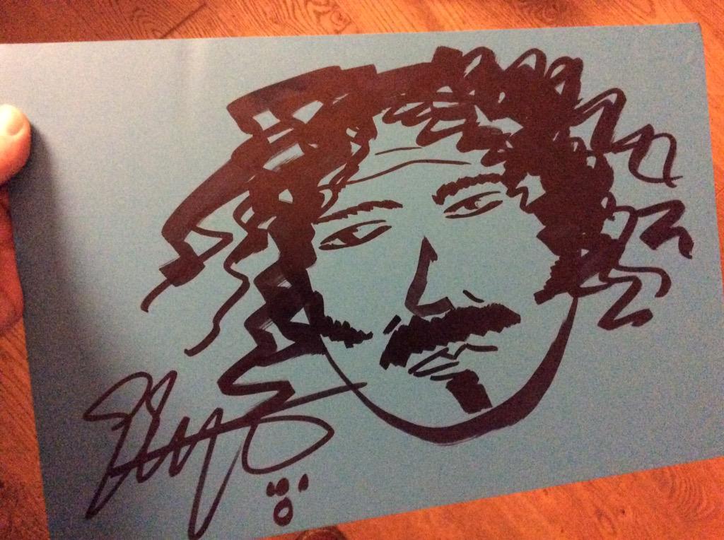 I kept the drawing @EllaEyre did of me! She got skills http://t.co/s5IDkgBFJj
