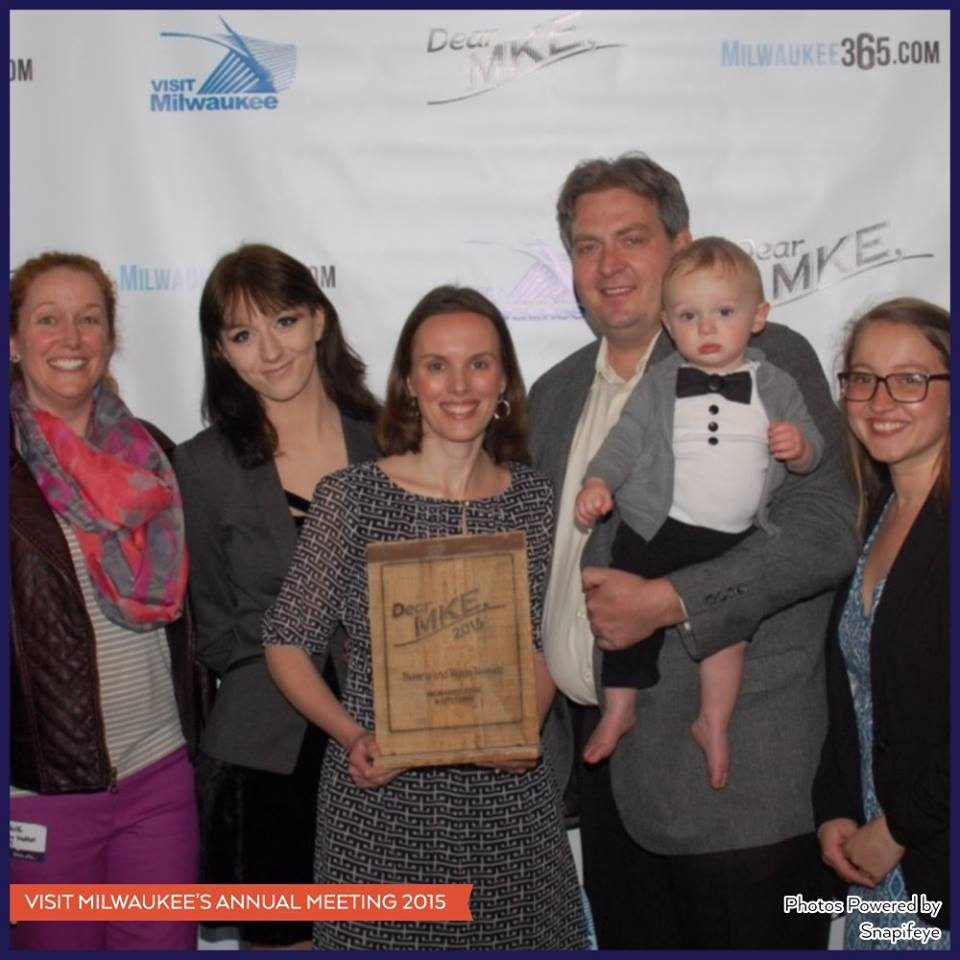 We were SO THRILLED and honored last night to be presented with the inaugural @DearMKE award! Thank YOU #Milwaukee! http://t.co/sXr4SCsZcn