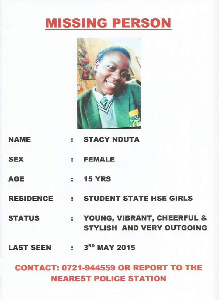 Good people, a daughter of a work colleague has gone missing since 3rd May . Pls share . http://t.co/iLklaQvTXP