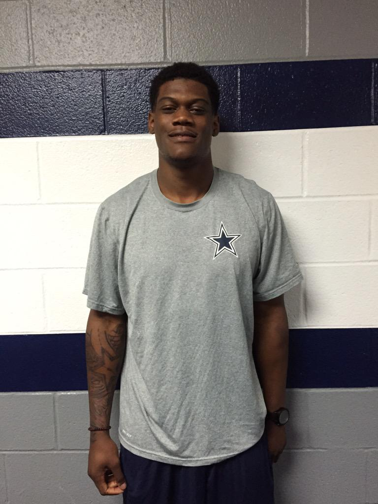 f820cccd748 first look randygregory4 and his star tattoo in cowboys gear cowboysdraft  huskers