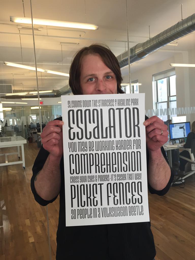 Jim showing off his latest typeface creation! #FontMarathon http://t.co/bwh3VGxdl9