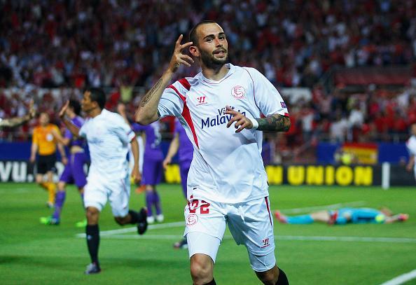 FOTO Aleix Vidal (Siviglia) | Europa League: Fiorentina spremuta da Vidal, Napoli beffato da un fuorigioco scandaloso