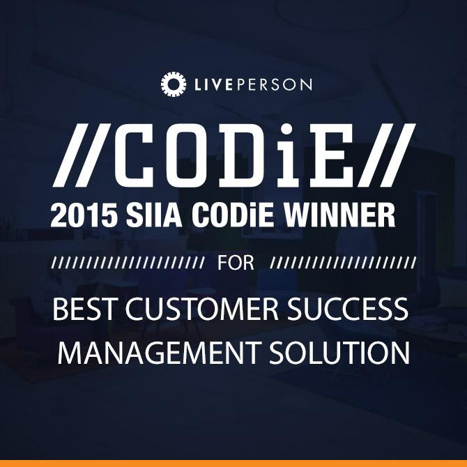 LivePerson is proud to accept the @SIIASoftware #CODIE15 Award! #CustomerSuccess #CX http://t.co/TzQjJ9m0R2 http://t.co/OovOPSkTXN