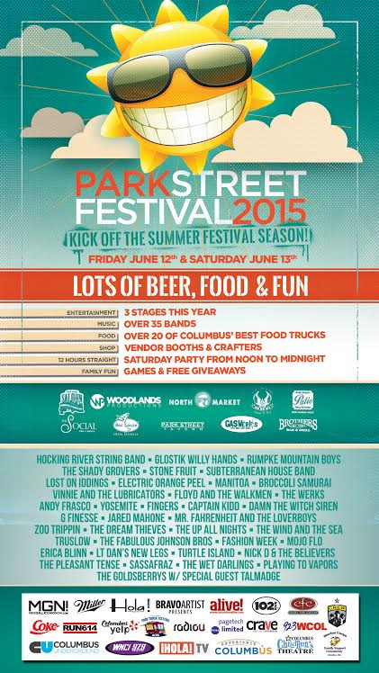 #Columbus, get ready for 3 stages and more than 35 bands! Because that's how @ParkStreetFest rolls. #PSF2015 #OHIO! http://t.co/YV0iGPZEC7