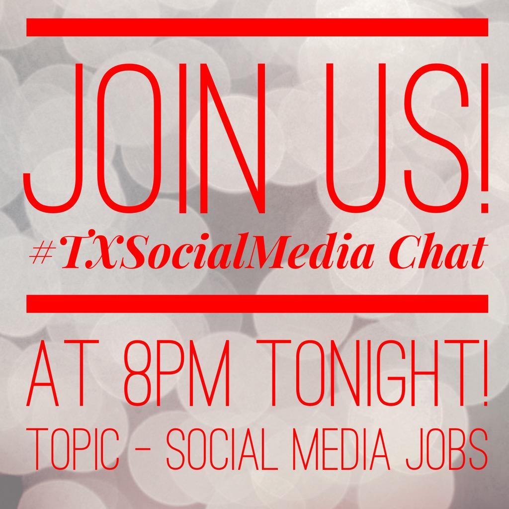 Thumbnail for Social Media Jobs -May 7, 2015 -#TxSocialMedia chat