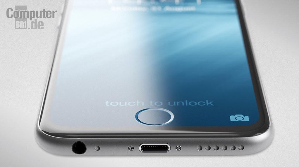คอนเซป iPhone 7 ใหม่ล่าสุดมาพร้อมกล้อง 2 ตัว ปุ่ม Touch ID อยู่ในหน้าจอ โลโก้ Apple เรืองแสง http://t.co/TypPIcHpah http://t.co/GTJS9ZBWMP
