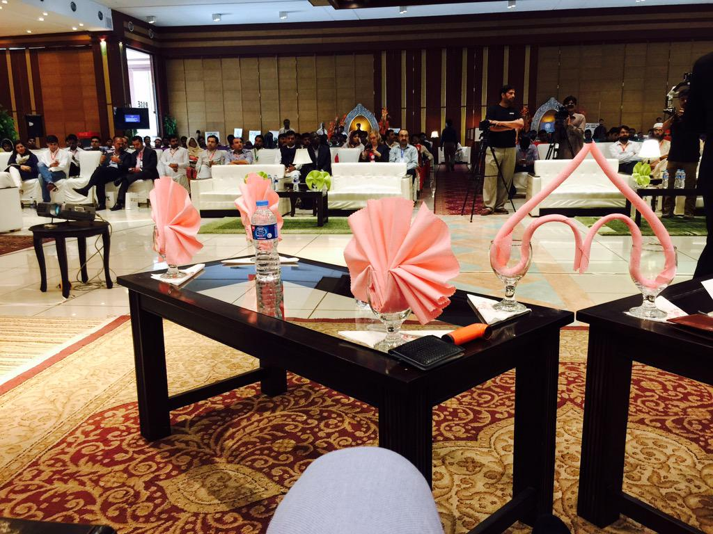 The view from the stage. Discussing on a panel about Freelance Industry of Pakistan. #DYS15 http://t.co/dRolfJvznO