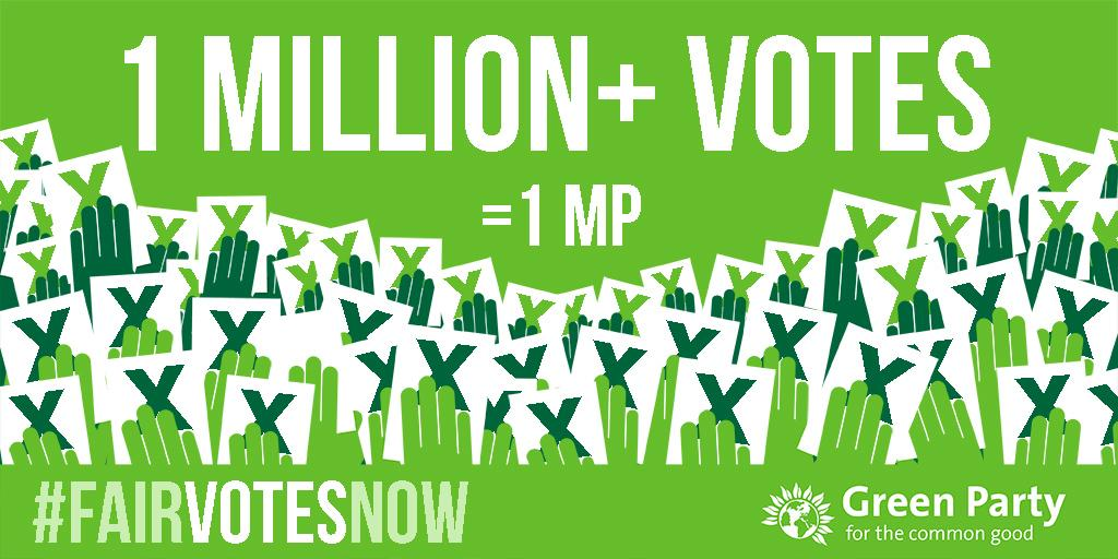 1 million votes for a single Green MP. Join our call for #FairVotesNow http://t.co/DLENKNlBOh http://t.co/h6zFNSRdpO