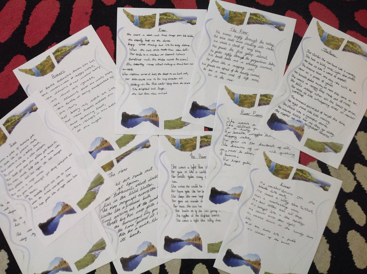 Kelsall School On Twitter Gorgeous Examples Of River Poetry From