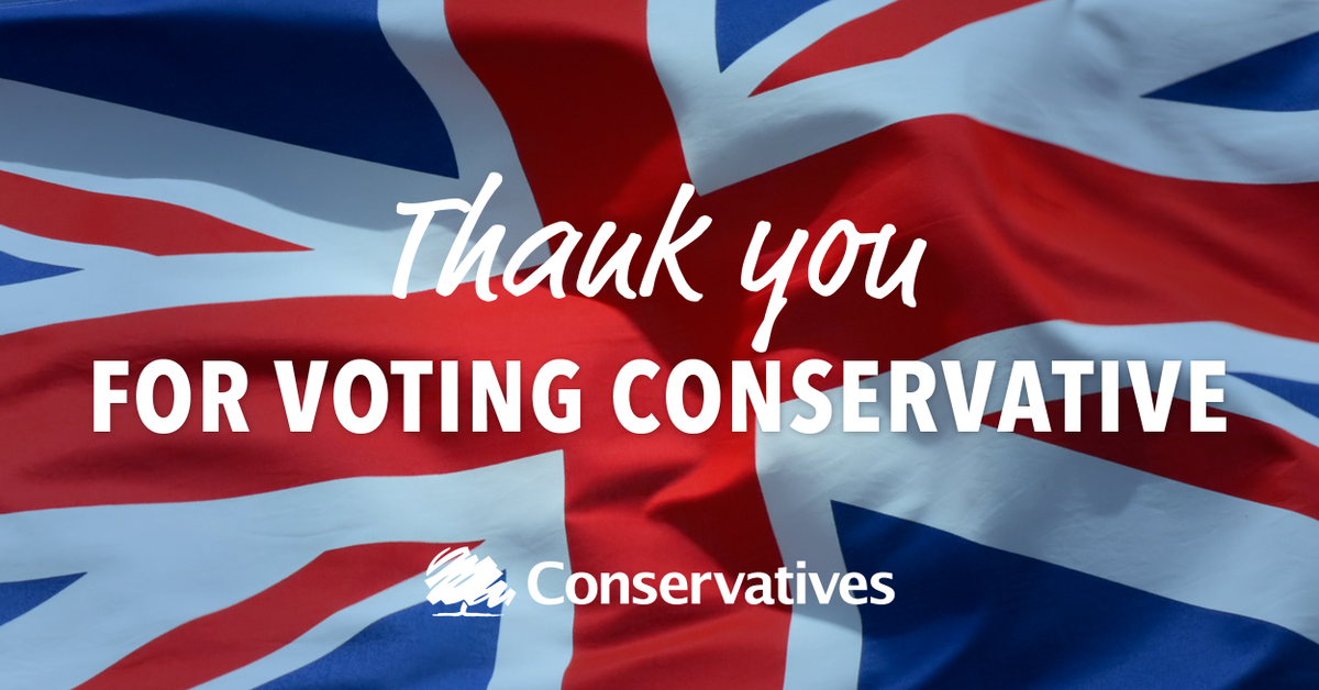 With 326 seats confirmed, we now have an overall majority. THANK YOU for voting for a brighter, more secure future. http://t.co/b3ib8T3Ui0