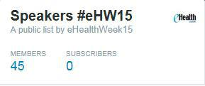 Find out who is speaking at #eHW15 via this twitter list: https://t.co/tqEj84RNAn #FF #eHealth #mHealth http://t.co/y6crbTdKk0