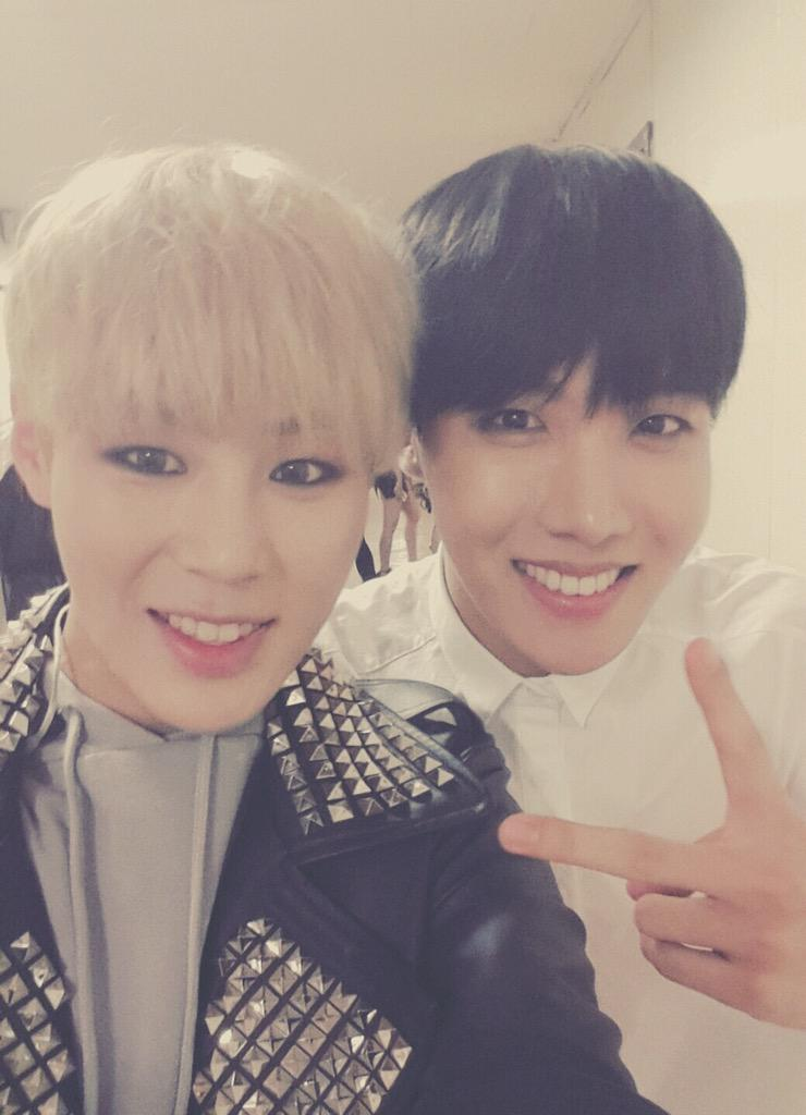 Picture J Hope With Sungwoon Hotshot 150508