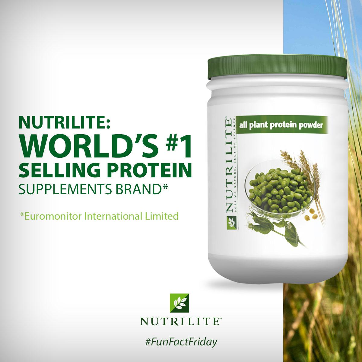 We're number 1. Power up with #Nutrilite protein: http://t.co/xAIDKyh8Vi. #FunFactFriday #FFF http://t.co/AEIjcF5WIh
