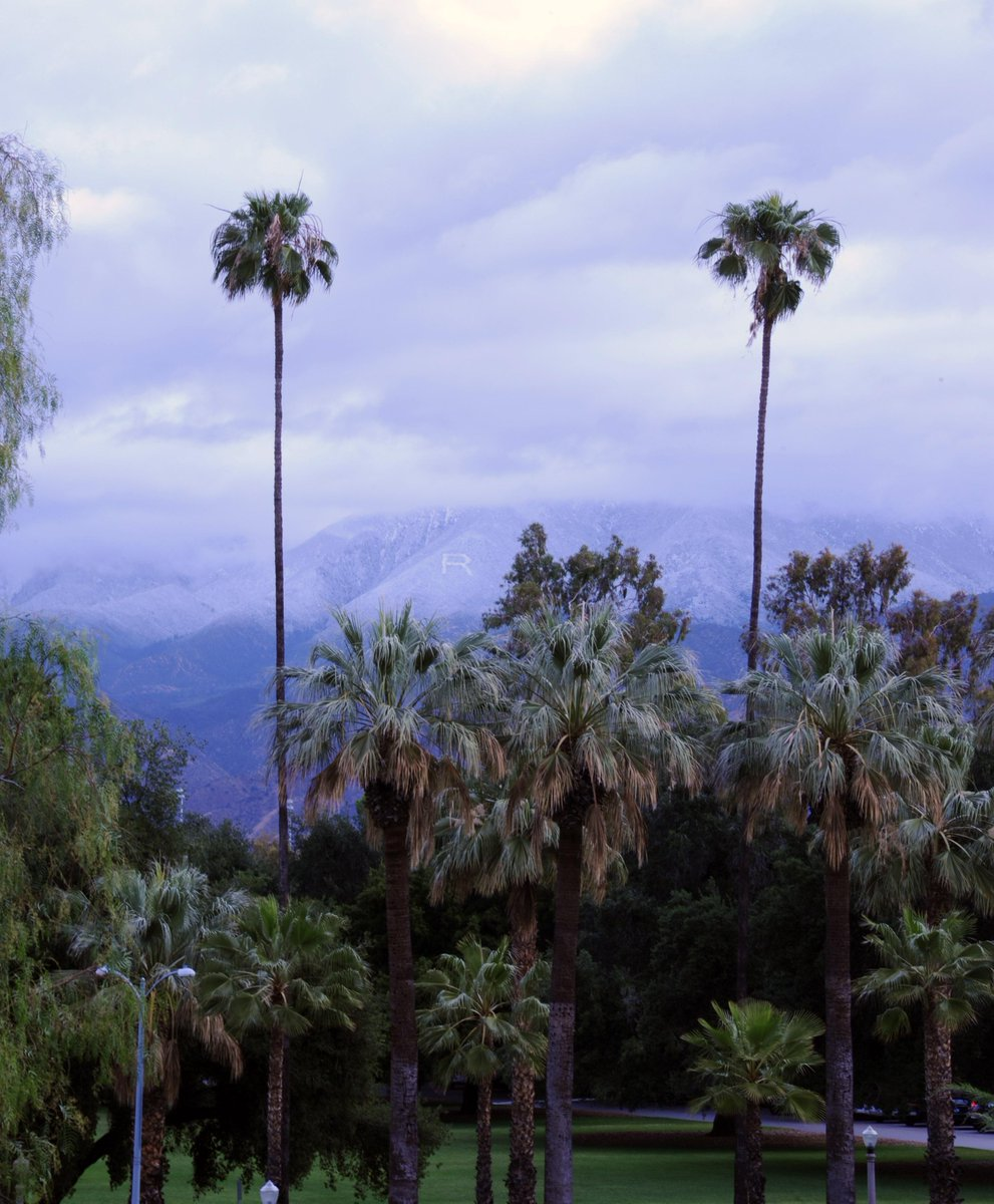 "Snow in the ""R"" on a May morning above the @UofRedlands Beautiful view. http://t.co/1odXAsMG0m"