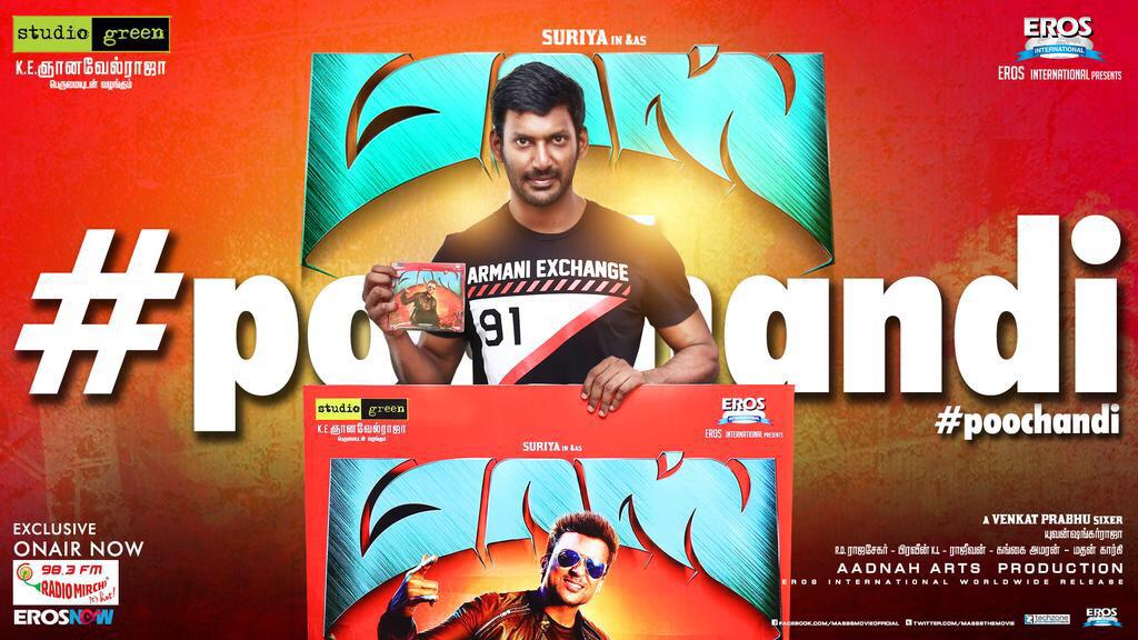 Poochandi song released on Mirchi 98.3 FM by Vishal