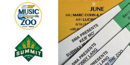CONCERT TIX! BEER! RT & enter to WIN 2 Subway @musicinthezoo tix of choice + beer! 2015 Sched: http://t.co/0XOHxLKH0Y http://t.co/hqaW3I1Zxr