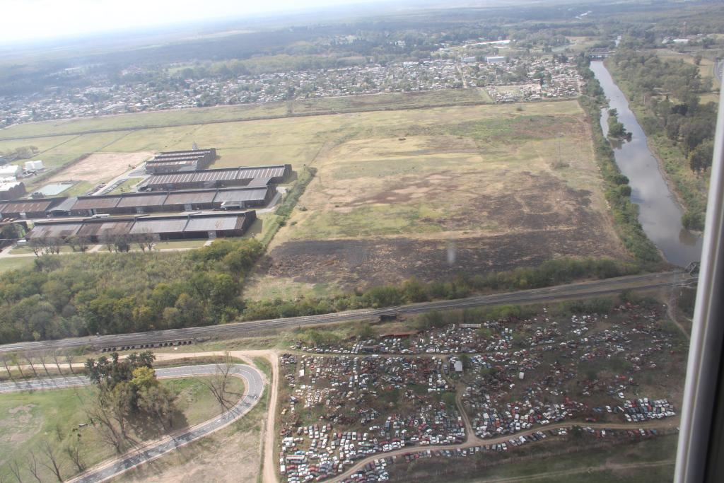 El proyecto del nuevo parque industrial quedaría así, según la vista aérea