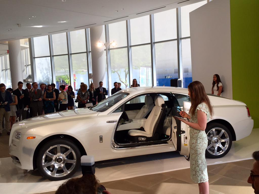 At the unveiling of the @rollsroycecars Wraith Inspired by Fashion http://t.co/Trnb8vo2ay