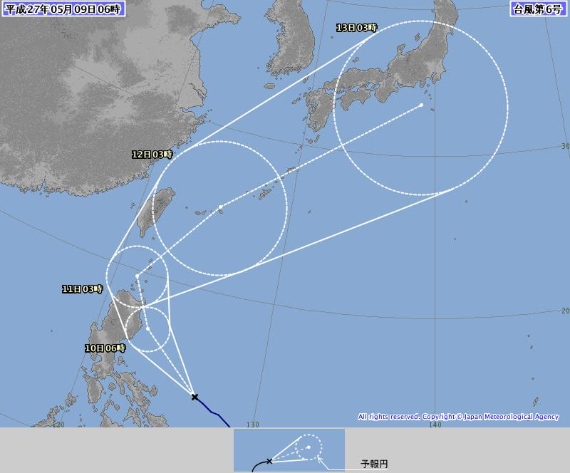 【台風6号】沖縄地方は10日ごろから波が高くなり、11日には先島が暴風域入りし、12日には本島が暴風域に入る恐れがあります。 http://t.co/TfqWcAoem6 http://t.co/uUL0G3IetA