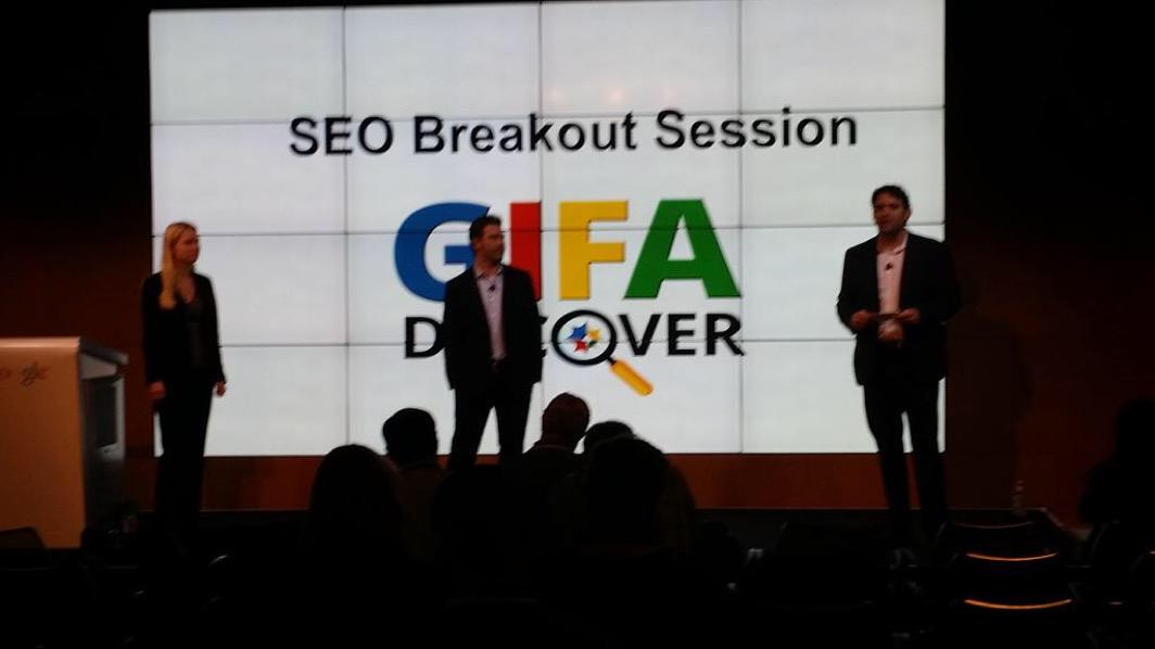 Our @Andrew_Beckman talking #SEO at #GIFA2015 with @google and friends! http://t.co/nJLMrNJpRS