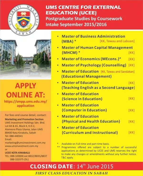 ums postgraduate coursework