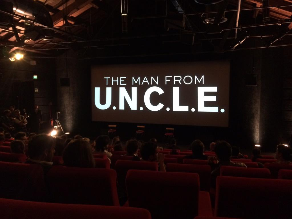For your eyes only...Starting off the morning with a screening of some #ManfromUNCLE footage in Rome. http://t.co/Zr8ulNiavr