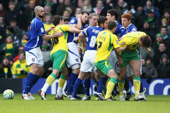 Tussle between Norwich and Ipswich