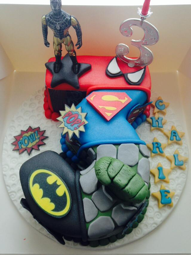 Lg Cakes On Twitter Spiderman Superman Hulk Batman Boys