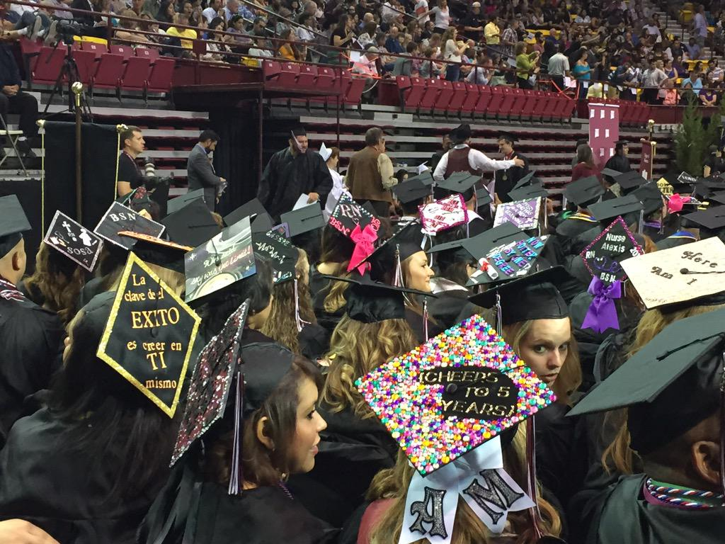 College of Health and Social Services graduates always have the best cap decorations. #NMSUGrad http://t.co/8uvVHazI00