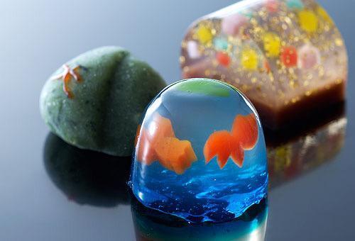 【綺麗な和菓子】 京生菓子 松彌 「金魚」 http://t.co/4bXWF8TprB
