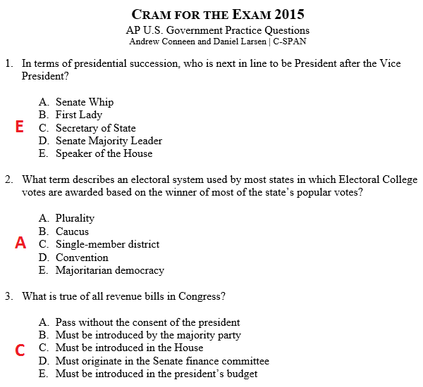 ap government congress essay questions