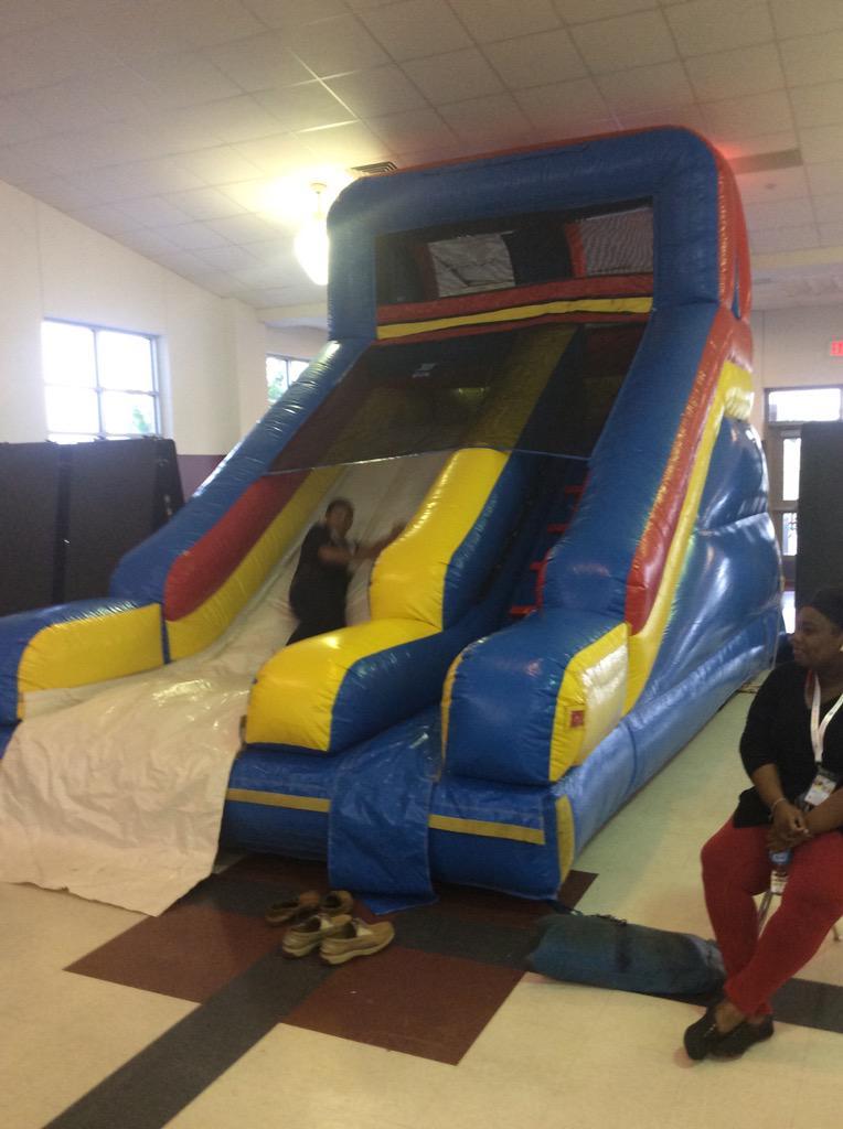 #Playdate15 Yes we have an indoor slide! #ManorISD http://t.co/bHE90WkAM9