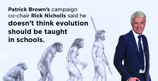 Patrick Brown's views are extreme. Same with his campaign co-chair Rick Nicholls' views. #onpoli #PCPO http://t.co/frxXY7yjy7