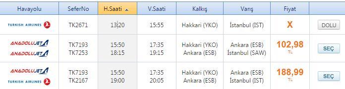 Hakkari Yüksekova Uçak Bileti