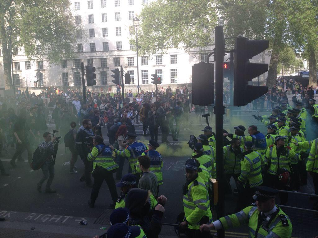 This is happening in London. Not a peep from any broadcaster or paper. Why? RT @mcc_ss:  #BBC aren't reporting this