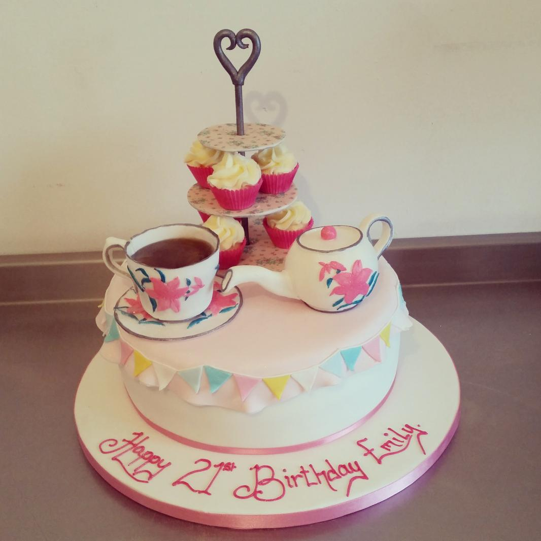 Astounding Shemakesandsupplies On Twitter Afternoon Tea Birthday Cake Personalised Birthday Cards Cominlily Jamesorg