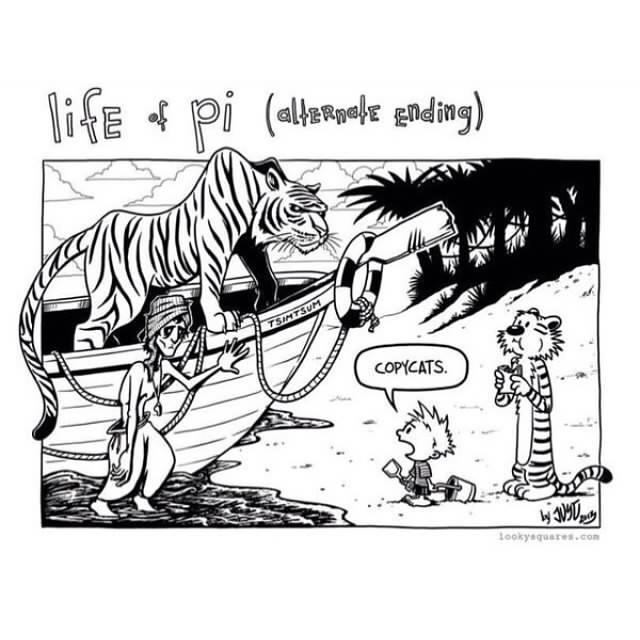 Calvin and hobbes on twitter life of pi alternate ending for Life of pi ending