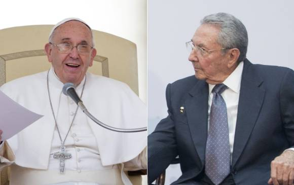 FOTO Papa Francesco e presidente Cuba Raul Castro