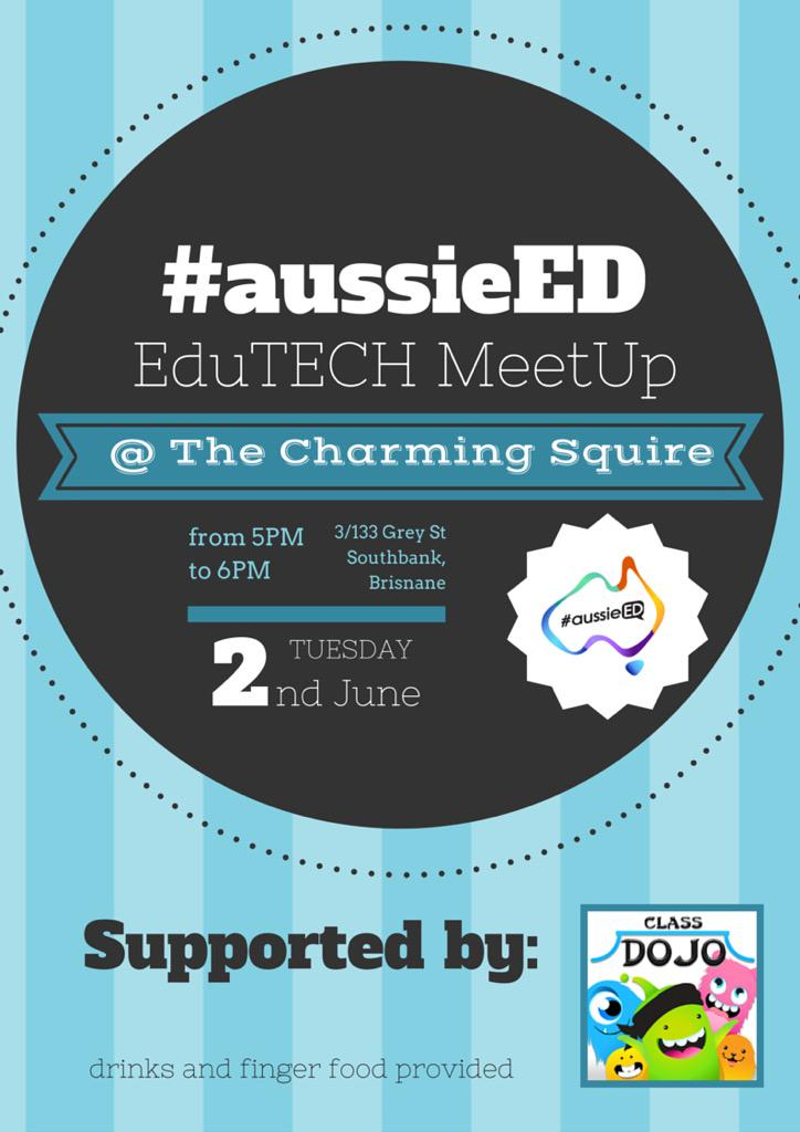 In Qld for #eduTECH? Join the #aussieED PLN for a free happy hour MeetUp. Book a spot now--> http://t.co/LIbRRDaxXj… http://t.co/JmoC7LSh8q