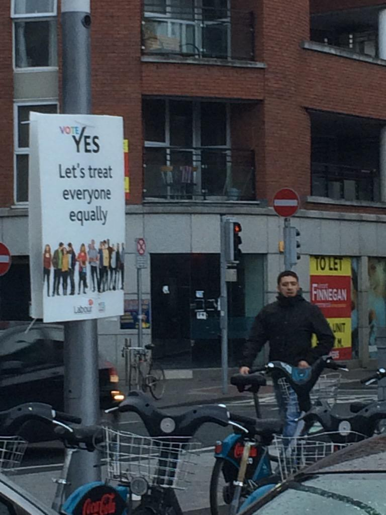 On 5/22, Ireland becomes the 1st country to hold a popular vote on same-sex marriage. In Dublin, signs are all over. http://t.co/8m1J5MWD1K