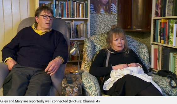 Gogglebox Giles and Mary are 'best mates' with Boris Johnson | Scoopnest