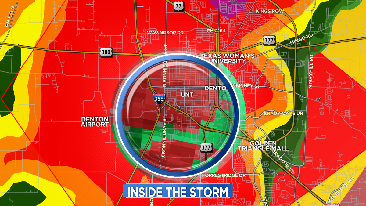 Seek shelter at Denton Airport/UNT/ Golden Triangle Mall! Get to the lowest level of your bldg. in interior room. RS http://t.co/gHJRkihRJx