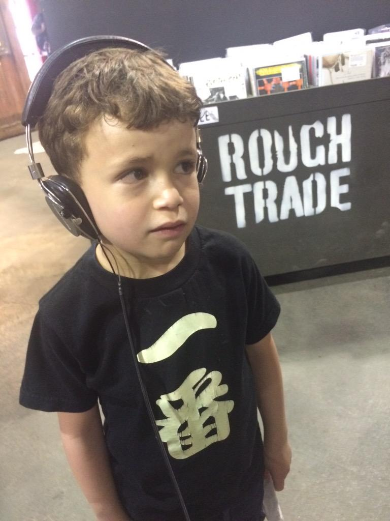 """""""Daddy, what's a record?"""" Cool store. @RoughTradeNYC & @BromptonBicycle http://t.co/SHTkvNCD0A"""